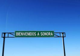 Letrero de bienvenidos a Sonora