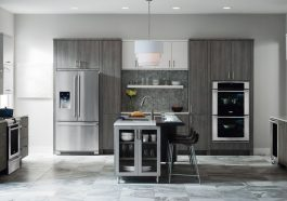 Refrigeradora en cocina moderna