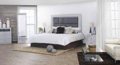Recamara con cama moderna