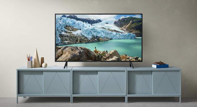 Smart TV en sala de estar